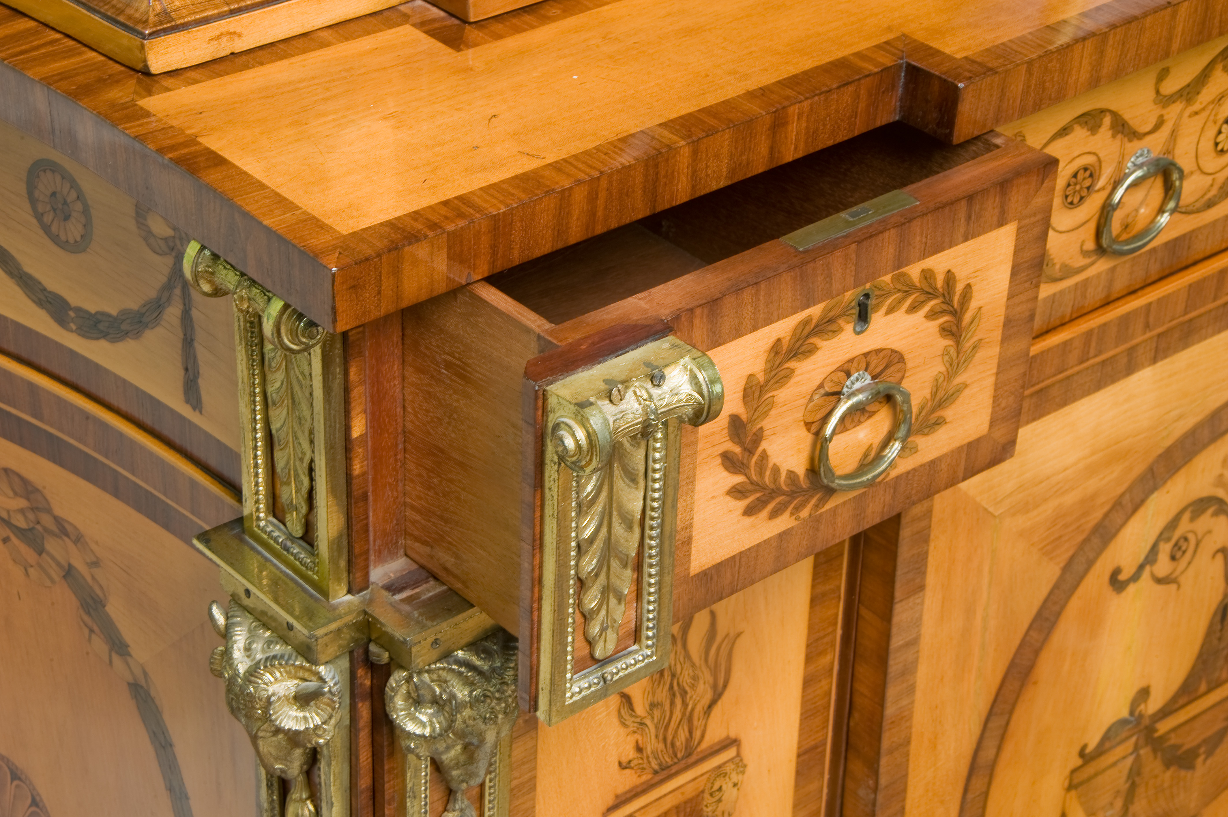 Panshanger Cabinet Thomas Chippendale Firle Place Sussex Detail