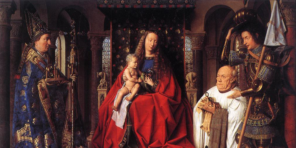 Van Eyck, The Madonna and Child of Canon George van der Paele, Bruges, Groeningemuseum