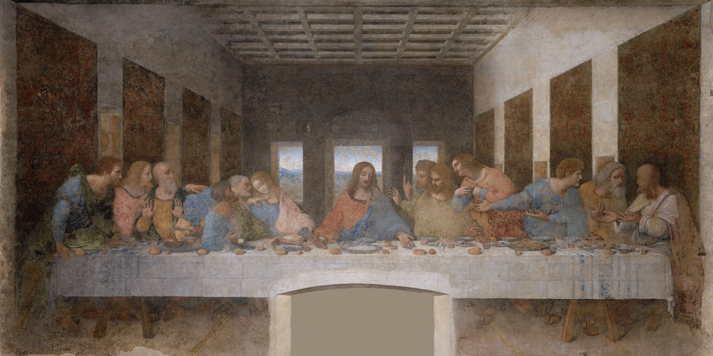 Leonardo Da Vinci, The Last Supper, Convent of Santa Maria delle Grazie, Milan