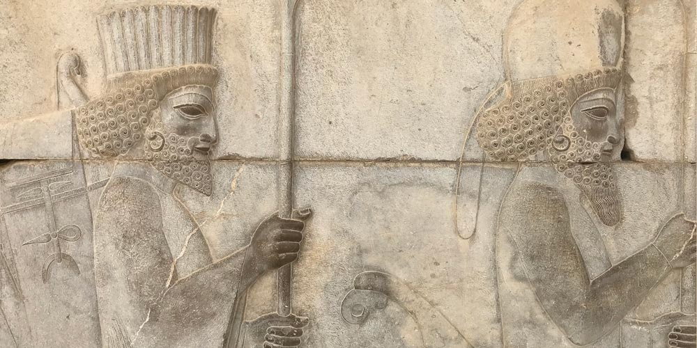 Persepolis, relief sculpture of Achaemenid era warriors